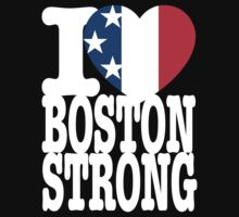 I USA Heart Boston Strong dark tshirt by BrBa