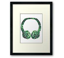 Military headphone Framed Print