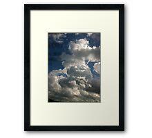 Hand print on the sky Framed Print
