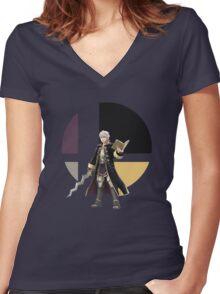 I Main Robin (Male) Women's Fitted V-Neck T-Shirt