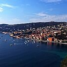 Villefranche Bay and Town by Tom Gomez