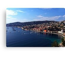 Villefranche Bay and Town Canvas Print