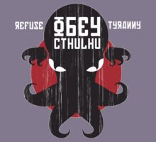 Refuse Tyranny, Obey Cthulhu - Dark Shirt Kids Clothes
