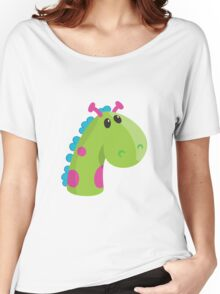 Sea Monster in Green (head) Women's Relaxed Fit T-Shirt