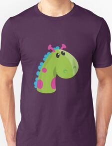 Sea Monster in Green (head) Unisex T-Shirt