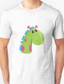 Sea Monster in Green (head) Unisex T-Shirt