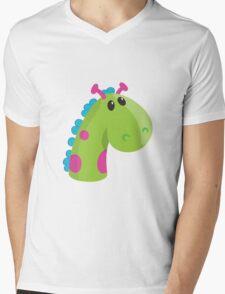 Sea Monster in Green (head) Mens V-Neck T-Shirt