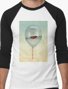 embracing the rain in a bubble Men's Baseball ¾ T-Shirt