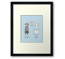 Animal Puns Framed Print