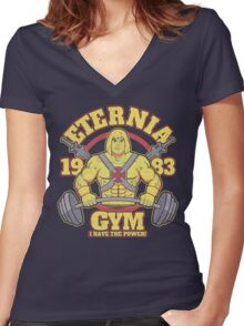 Eternia Gym Women's Fitted V-Neck T-Shirt
