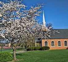 Country Church In Spring by James Brotherton