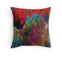 Mont St Michel Enflammé Throw Pillow