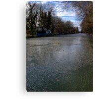 Frozen Canal in Berkshire Canvas Print