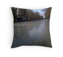 Frozen Canal in Berkshire Throw Pillow