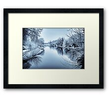 Berkshire Canal in Winter Framed Print