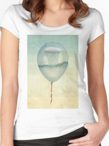 the cloud half full Women's Fitted Scoop T-Shirt