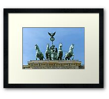 Brandenburg Gate Quadriga Berlin Framed Print
