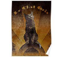 Le Chat Gris Poster
