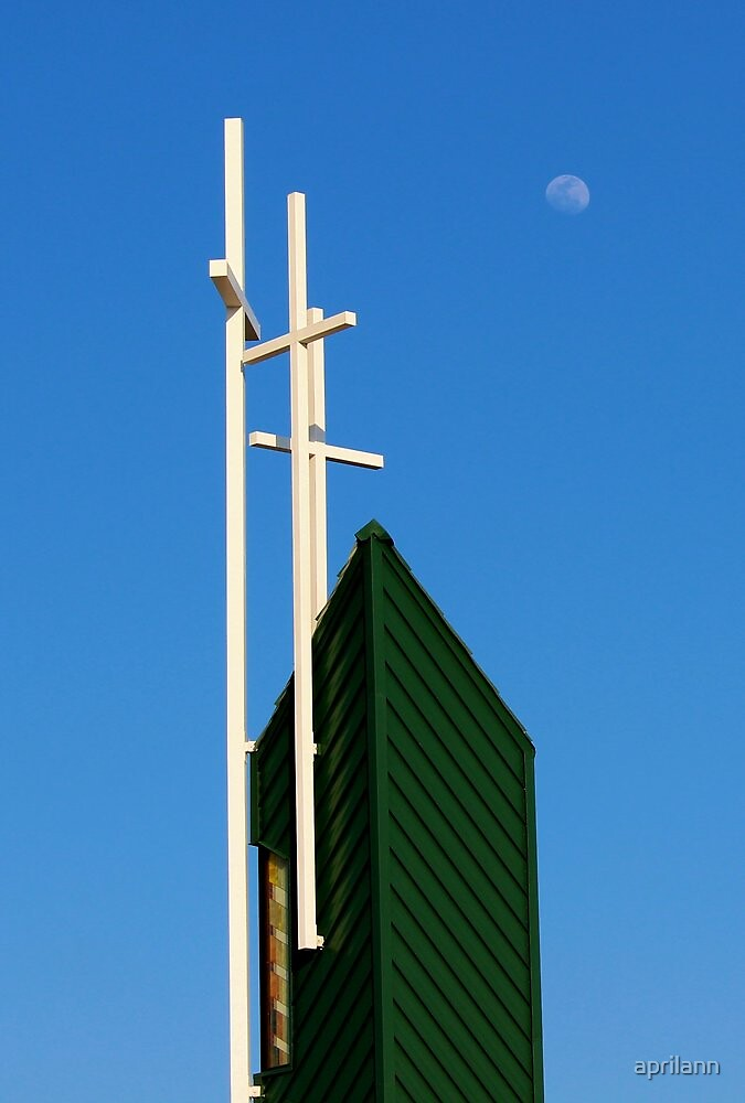 Moon Over Grayson Bible Baptist Church by aprilann