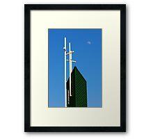 Moon Over Grayson Bible Baptist Church Framed Print