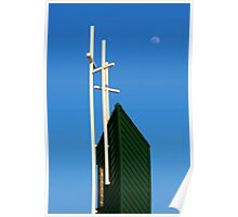 Moon Over Grayson Bible Baptist Church Poster