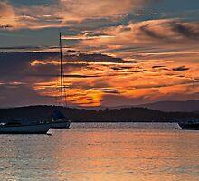 At Rest Under Firey Sky. by bazcelt