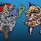 Shrunk-Ren & Stimpy by ghostfreehood