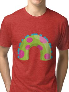 Sea Monster in Green (body) Tri-blend T-Shirt