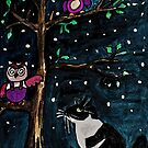 Who's there the Owl or The Pussy Cat? by Monica Engeler