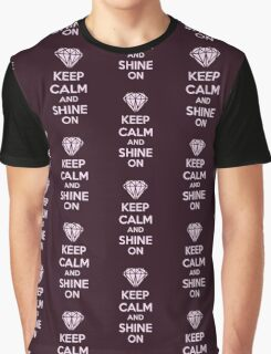 Keep CAlm And Shine On Graphic T-Shirt