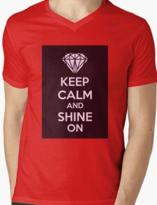 Keep CAlm And Shine On Mens V-Neck T-Shirt