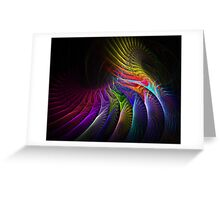 Roller Coaster of Colour  Greeting Card