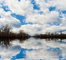 Cloud reflections by Penny Rinker