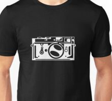 Classic Leica M3 Camera Design WHITE INK for DARK TEES Unisex T-Shirt