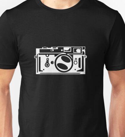 Classic Leica M3 Camera Design WHITE INK for DARK TEES Unisex T-Shirt