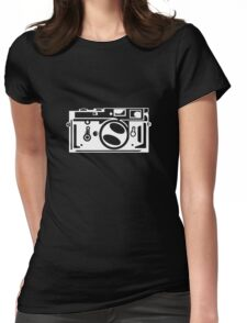 Classic Leica M3 Camera Design WHITE INK for DARK TEES Womens Fitted T-Shirt