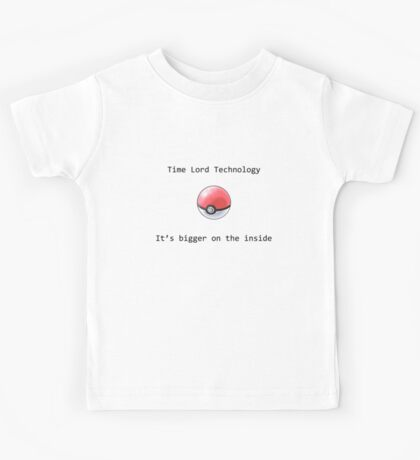 Time Lord Technology Pokeball Kids Tee