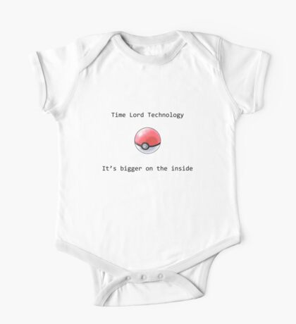 Time Lord Technology Pokeball One Piece - Short Sleeve