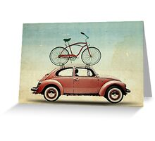 VW Bike Rack Greeting Card