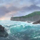 Stormy seascape by Francis Imossi