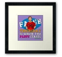 Thursday People Framed Print