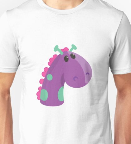 Sea Monster in Purple (head) Unisex T-Shirt