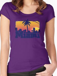 Welcome to Miami Women's Fitted Scoop T-Shirt