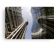 Wide-angle view of Lloyd's and the Willis Building. Canvas Print