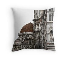 The Basilica di Santa Maria del Fiore (North Side) Throw Pillow