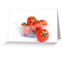 Bowl of Tomatoes Greeting Card