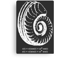 Spiral Shell with Math (white) Canvas Print