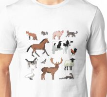 Animals of the UK (Outlined) Unisex T-Shirt