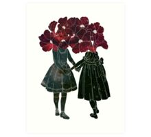 Flower Girls Art Print