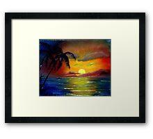 Shores in the Dream Framed Print